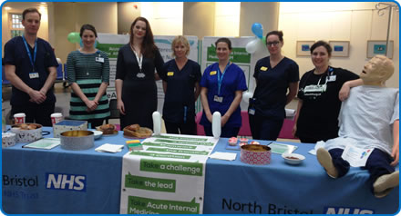 Staff from the Acute Medical Unit at Southmead Hospital are encouraging people to find out more about their work during Acute Medicine Awareness Day
