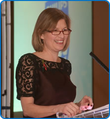 North Bristol NHS Trust Chief Executive Andrea Young at the Exceptional Healthcare Awards 2016