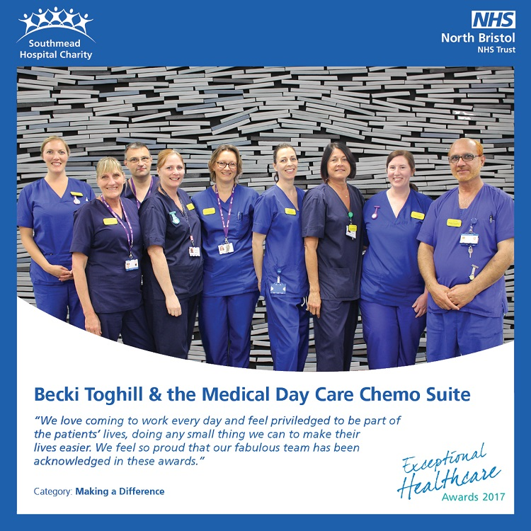 Becki Toghill and the Medical Day Care Chemo Suite