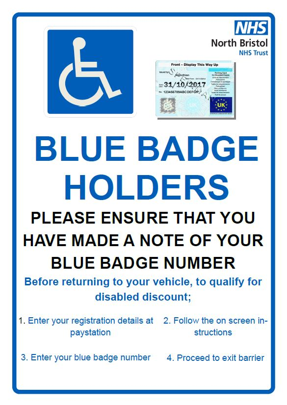 Blue badge instructions
