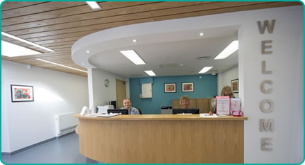 Bristol Breast Care Centre welcome desk