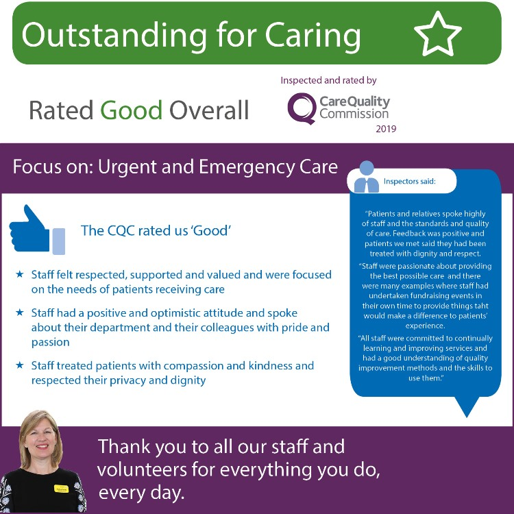 CQC Urgent and Emergency infographic