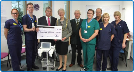 The Acute Medical Unit at Southmead Hospital Bristol has received a bladder scanner from Bristol Area Cardiac Support Group