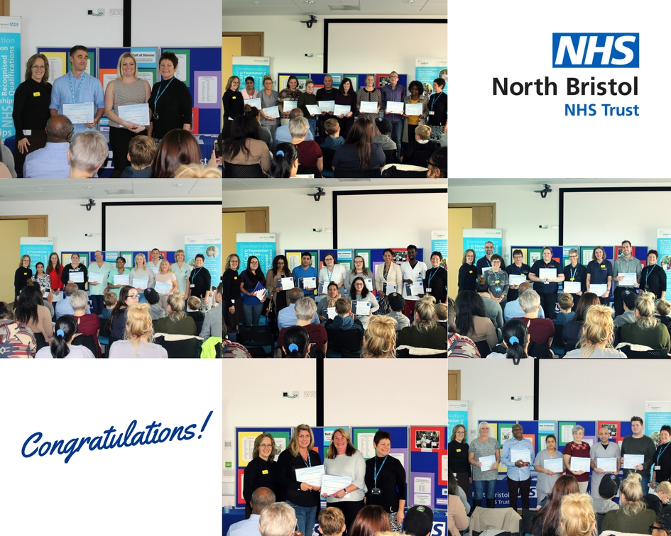 More than 150 members of North Bristol NHS Trust staff received certificates acknowledging their success in completing apprenticeships, Care Certificates and Pre-Employment Programmes.