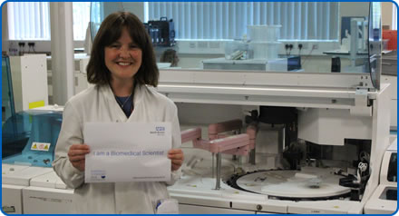 Cosima is a biomedical scientist providing urgent results for teams at Southmead Hospital