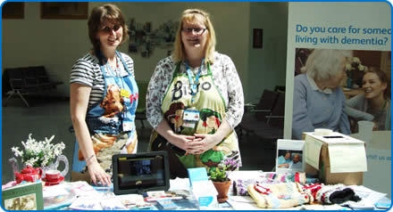 Dementia Trainer Sharon Parsons and Dementia Matron Jet O'Neill in the Brunel building during Dementia Awareness Week