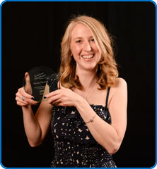 Cardiology Research Specialist Nurse Nicola Manning with her Best Quality Research or Innovation Award