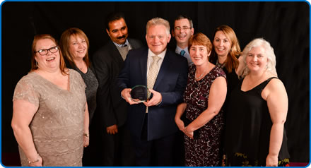 The Sterile Services Team with their Team of the Year Award