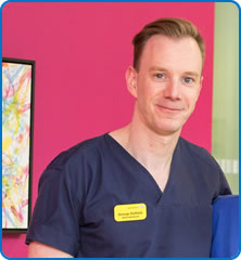AMU Ward Manager George Duffield is among North Bristol NHS Trust vstaff who will be working on Christmas Day