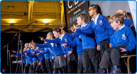 Horfield CEVC Primary School, who are among the choirs performing in the Fresh Arts Festival