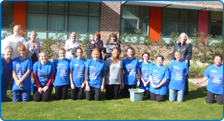 Staff and volunteers from the Bristol Motor Neurone Disease Centre at Southmead Hospital took part in the Ice Bucket Challenge