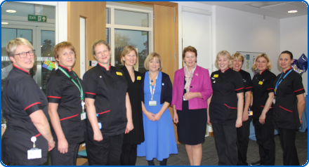 Jane Cummings and Southmead staff