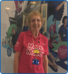 Jenny first joined the NHS in 1955 when she started her nurse training and is now a volunteer at Southmead Hospital
