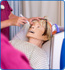 Simulation manikin during scenario.