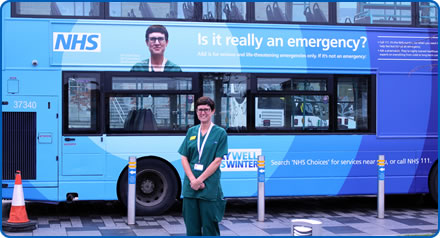 Leilah Dare, Lead Emergency Department Consultant with Staywell bus