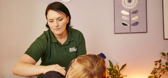 Macmillan Wellbeing Centre volunteer therapists