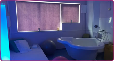 Mendip Birth Centre mood lighting