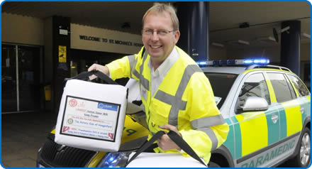 Mike Burns from Blood Bikes NICU Support has been shortlisted in the Supporting Southmead Hospital category of the Exceptional Healthcare Awards