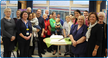 Staff and supporters celebrate five years of the Donor Milk Bank at Southmead Hospital Bristol