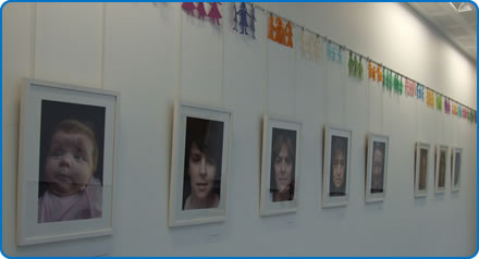 Mother in the Mother - an exhibition celebrating motherhood has opened in the Brunel building at Southmead Hospital Bristol.