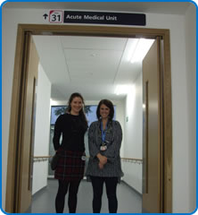 Acute Medicine Unit Registrars Sarah Kyle and Nerys Conway