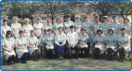 Nic Fudge and her fellow student nurses graduating at Southmead Hospital