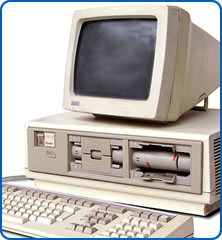 A rainbow computer used in the early days of computers at Southmead Hospital