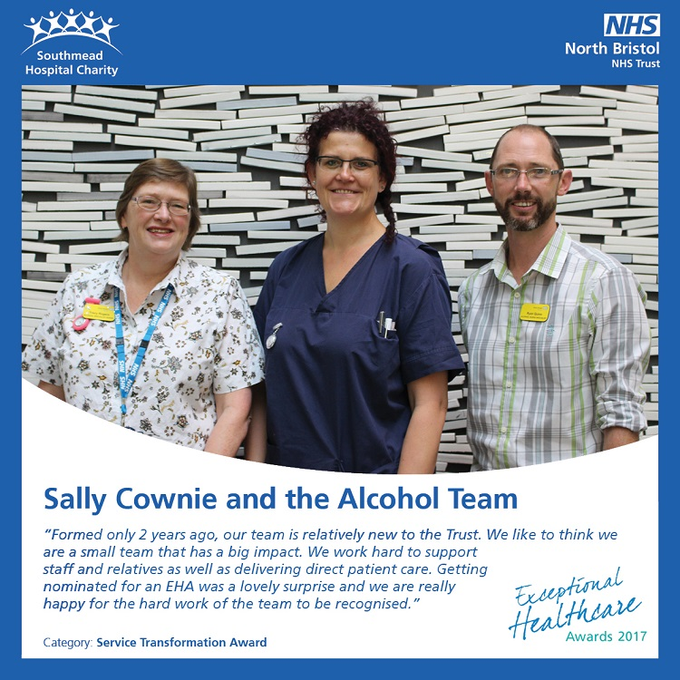 Sally Cownie and the Alcohol Team