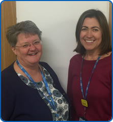 Sarah Smith and Deborah Walton Cancer Nurses