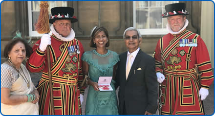 Southmead Hospital Consultant at Buckingham Palace receiving her MBE