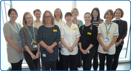 Members of the Speech and Language Therapy team at Southmead Hospital, who support patients with swallowing difficulties