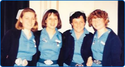 Sue Crew graduating from Southmead School of Nursing in 1987