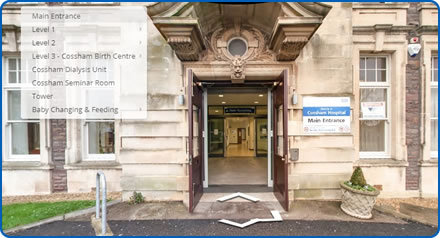 Virtual tour of Cossham Hospital