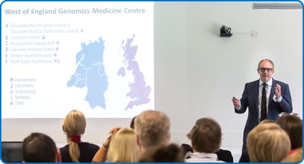 West of England Genomics Medicine Centre Clinical Director Andrew Mumford at the centre's launch at Southmead Hospital Bristol