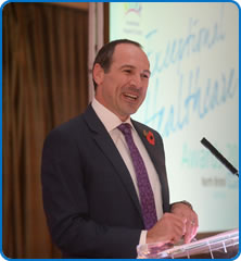 Presenter Will Glennon at the North Bristol NHS Trust Exceptional Healthcare Awards 2016