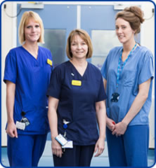 Nurses at Southmead Hospital