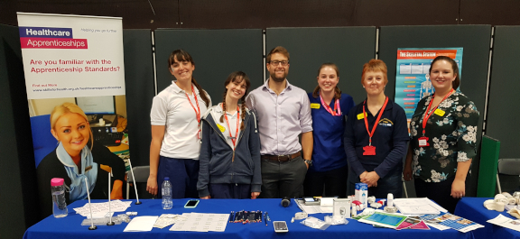 North Bristol Trust staff at a careers event