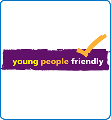 The Young People Friendly logo highlights accredited services