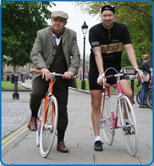 (L to R) Ride back in Time Organisers Dave Hart and Craig Denning