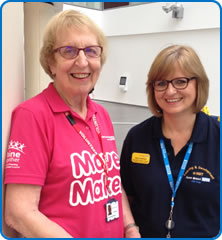 Move Maker Jenny Beckingsale with Assistant Director for Learning and Developement at North Bristol NHS Trust, Jane Hadfield