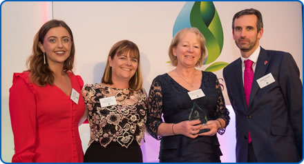Therapeutic Opportunities team receives the Real World Evidence in Care Award at the QuDoS in MS awards