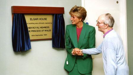 Princess Diana opening Elgar House in 1991