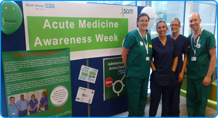 The Acute Assessment Unit at Southmead Hospital Bristol mark Acute Medicine Awareness Week