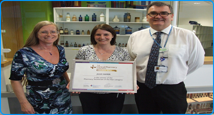 The pharmacy team celebrate success at the Clinical Pharmacy Congress Awards